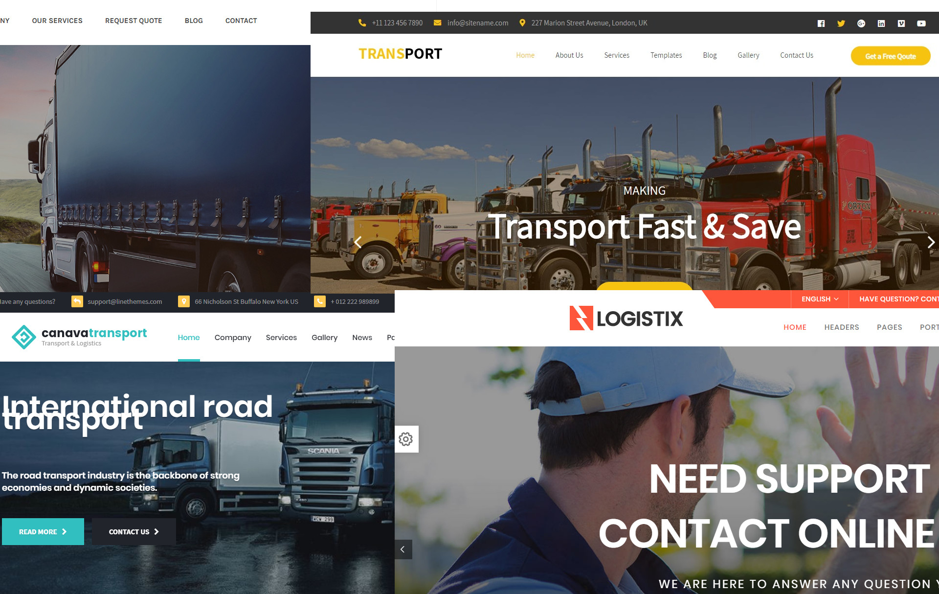 WordPress Themes For Couriers, Logistics, Transportation, Removals and Delivery Businesses